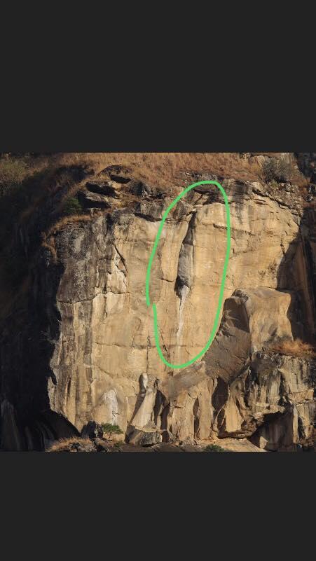 L'histoire lunaire de la falaise en forme de pudendum féminin, dans le gewog de Jamkhar
